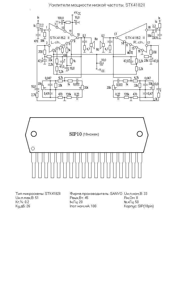 Stk4182ii Ebook Download Stk Audio Amplifier Scheme